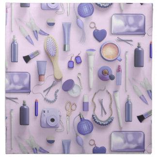 Lila Eitelkeits-Tabelle Stoffserviette