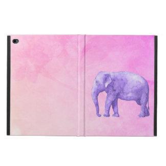 Lila Elefant auf träumerischen rosa Watercolors