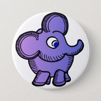Lila Elefant Runder Button 7,6 Cm