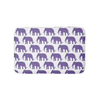 Lila Elefanten Badematten