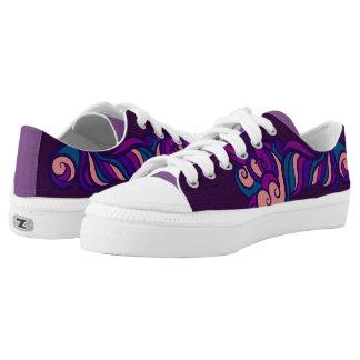 Lila Entwurfs-Schuhe Niedrig-geschnittene Sneaker
