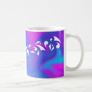 Lila Fantasie Kaffeetasse