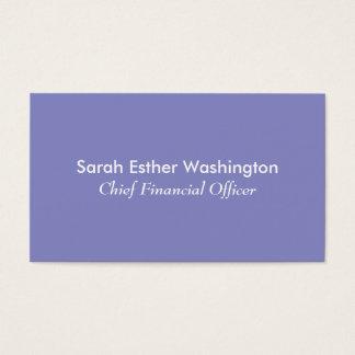Lila Farbe Visitenkarte