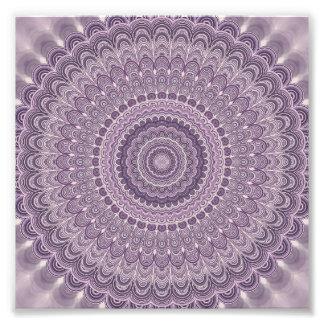 Lila Feder Mandala Fotodruck