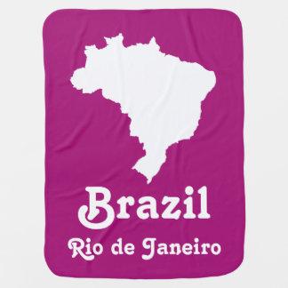 Lila festliches Brasilien mit kundenspezifischem Puckdecke