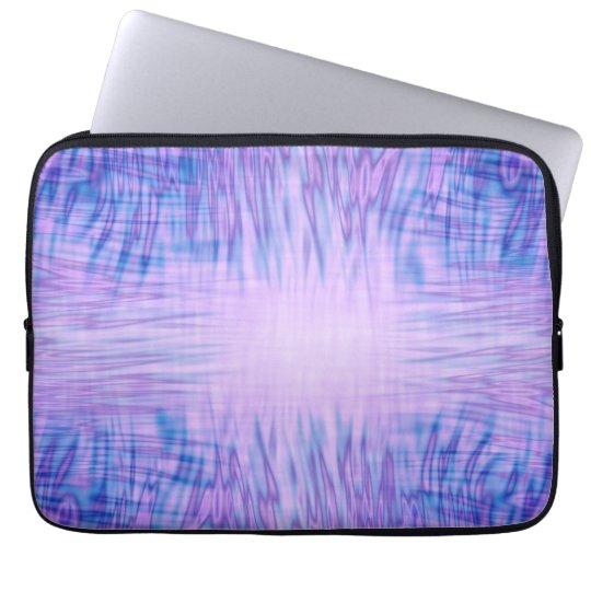 Lila Flammen Laptop Computer Schutzhülle