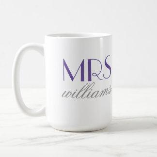 Lila Frau Coffee Mug | Braut-zu-Ist Geschenk Kaffeetasse