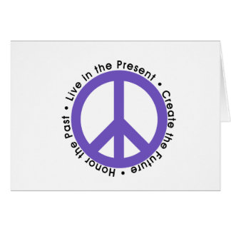 Lila Friedenszeichen Karte