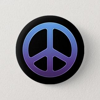 Lila Friedenszeichen-Knopf Runder Button 5,1 Cm