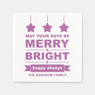 Lila fröhlicher und heller Feiertag Papierserviette