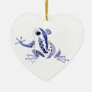 Lila Frosch Keramik Ornament