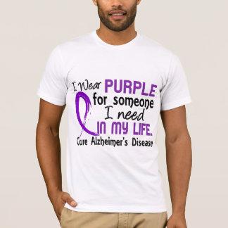 Lila für jemand benötige ich Alzheimer Krankheit T-Shirt