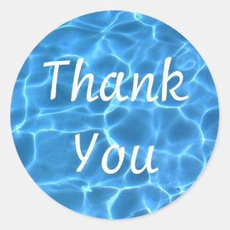 Lila Galaxie-Gruppe danken Ihnen Runder Aufkleber