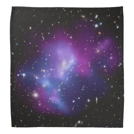 Lila Galaxie-Gruppe Halstücher