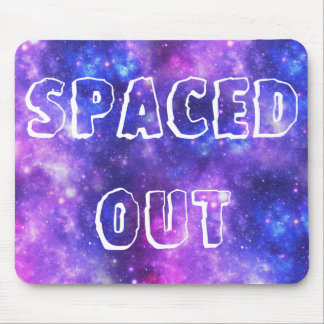 Lila Galaxie Mousepads
