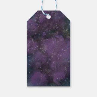 Lila Galaxie-Nebelfleck Geschenkanhänger