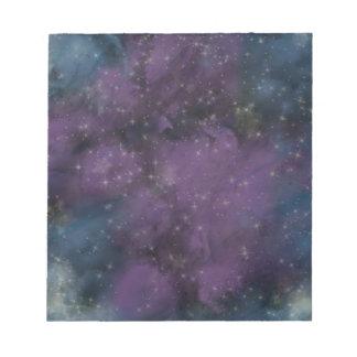 Lila Galaxie-Nebelfleck Notizblock