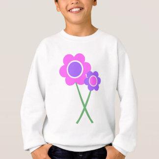 Lila Gänseblümchen-Blumen Sweatshirt