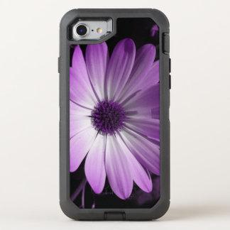 Lila Gänseblümchen-Blumen-Telefon OtterBox Defender iPhone 8/7 Hülle