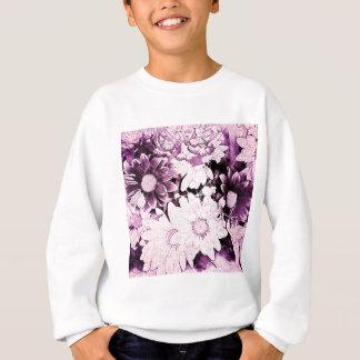 Lila Gänseblümchen der französischen Land boho Sweatshirt
