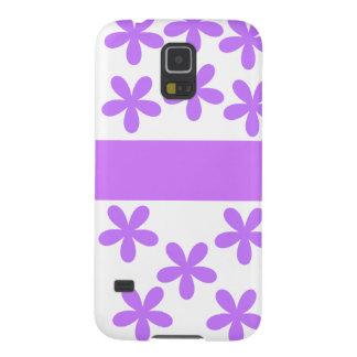 Lila Gänseblümchen Samsung S5 Cover