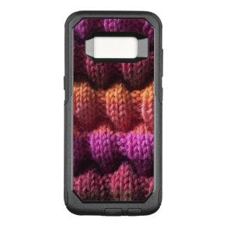 Lila Garn-Strick-Muster OtterBox Commuter Samsung Galaxy S8 Hülle