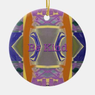 Lila Gärten abstrakt mit Ihren Wörtern Rundes Keramik Ornament