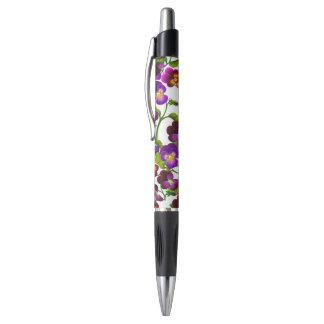 Lila Gartenpansy-Blumen-Stift Kugelschreiber