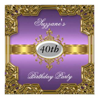 Lila Geburtstags-Party-Glamour-heiße Einladung
