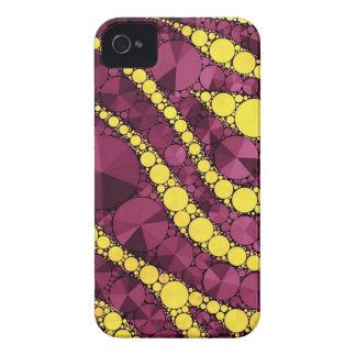 Lila gelber Bling Zebra iPhone 4 Cover