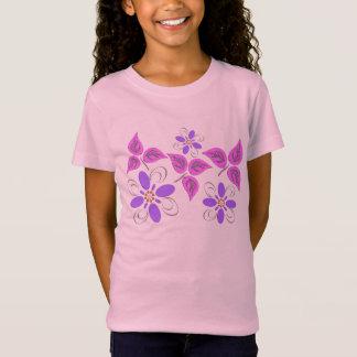 Lila gemustert T-Shirt