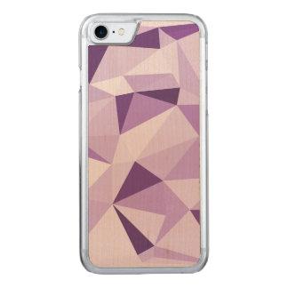 Lila geometrische abstrakte Dreiecke Carved iPhone 8/7 Hülle