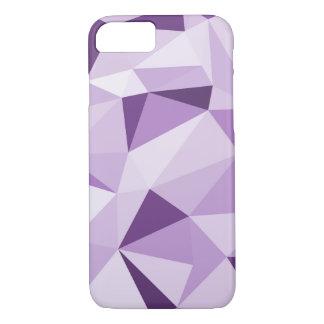 Lila geometrische abstrakte Dreiecke iPhone 8/7 Hülle
