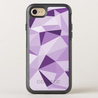 Lila geometrische abstrakte Dreiecke OtterBox Symmetry iPhone 8/7 Hülle