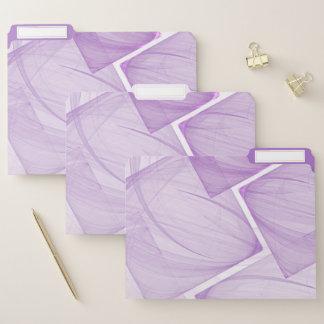 Lila geometrischer Pastellhintergrund Papiermappe