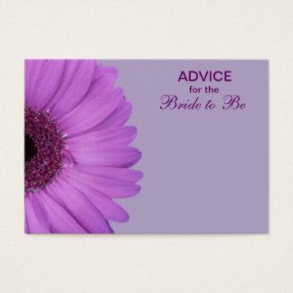 Lila Gerber Gänseblümchen-Rat für die Braut Visitenkarte