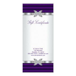 Lila Geschäfts-Geschenk-Zertifikat-Geschenk-Karte 12,2 X 22,9 Cm Kartendruck