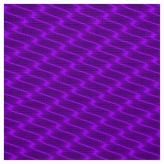 Lila gewellte Neonlinien Gewebe-Muster Stoff