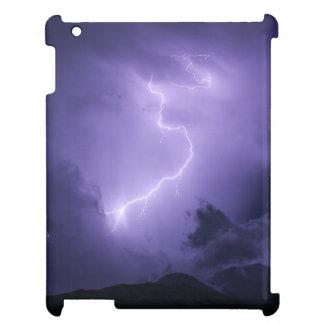 Lila Gewitter nachts iPad Hülle