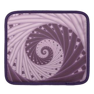 Lila gewundene Fraktal iPad Hülse iPad Sleeve