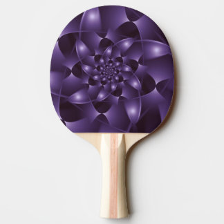 Lila gewundenes FraktalPing Pong Paddel Tischtennis Schläger