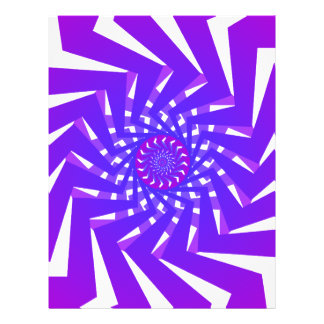 Lila gewundenes Muster: Vektorkunst: Flyerdesign