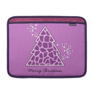 Lila Giraffe Weihnachtsbaum MacBook Air Sleeve