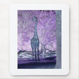 Lila Giraffen Mousepad