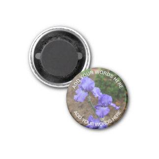 Lila Gladiolus: Personalisierter Magnet Runder Magnet 3,2 Cm