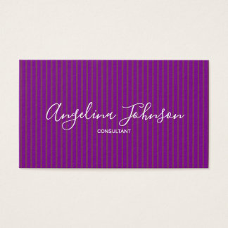 Lila Glamour-Mode-Designer-Künstler-Stylist Visitenkarte