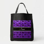 Lila Glitter-Dackeln des personalisierten Taschen