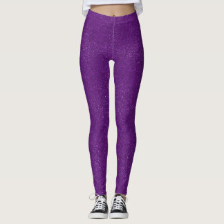 Lila Glitter Leggings