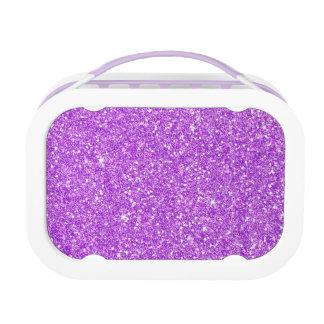Lila Glitter-Luxus-Diamant Brotdose