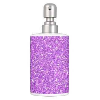 Lila Glitter-LuxusdiamantShine Badezimmer-Set
